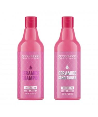 Ceramide Shampoo 16.9 fl oz + Ceramide Conditioner 16.9 fl oz for Dry and Brittle Hair COCOCHOCO