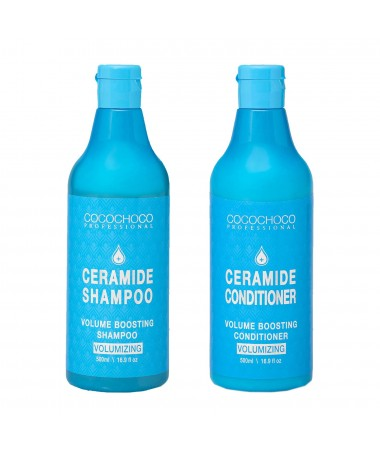 Ceramide Shampoo 16.9 fl oz + Ceramide Conditioner 16.9 fl oz for Hair Volume COCOCHOCO