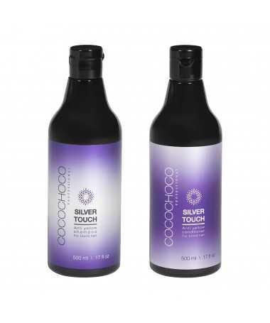 Anti-Yellow Sulphate-Free Shampoo + Conditioner Silver Touch 16.9 fl oz COCOCHOCO
